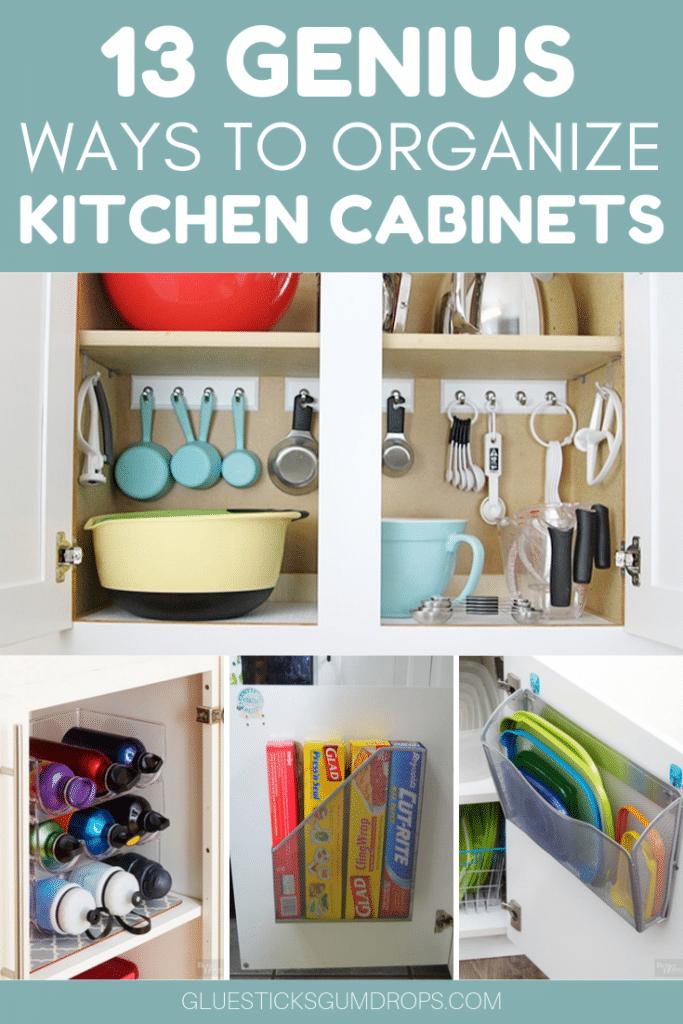 13 Genius Ways to Organize Kitchen Cabinets