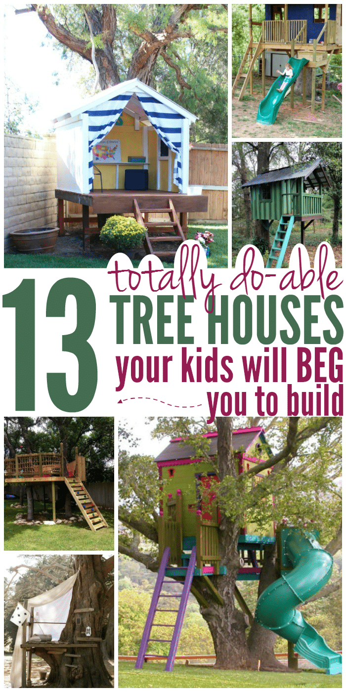 13 tree houses your kids will beg you to build glue for Design a house online for fun