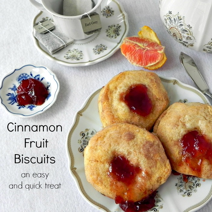 Cinnamon Fruit Biscuits - an easy and quick treat