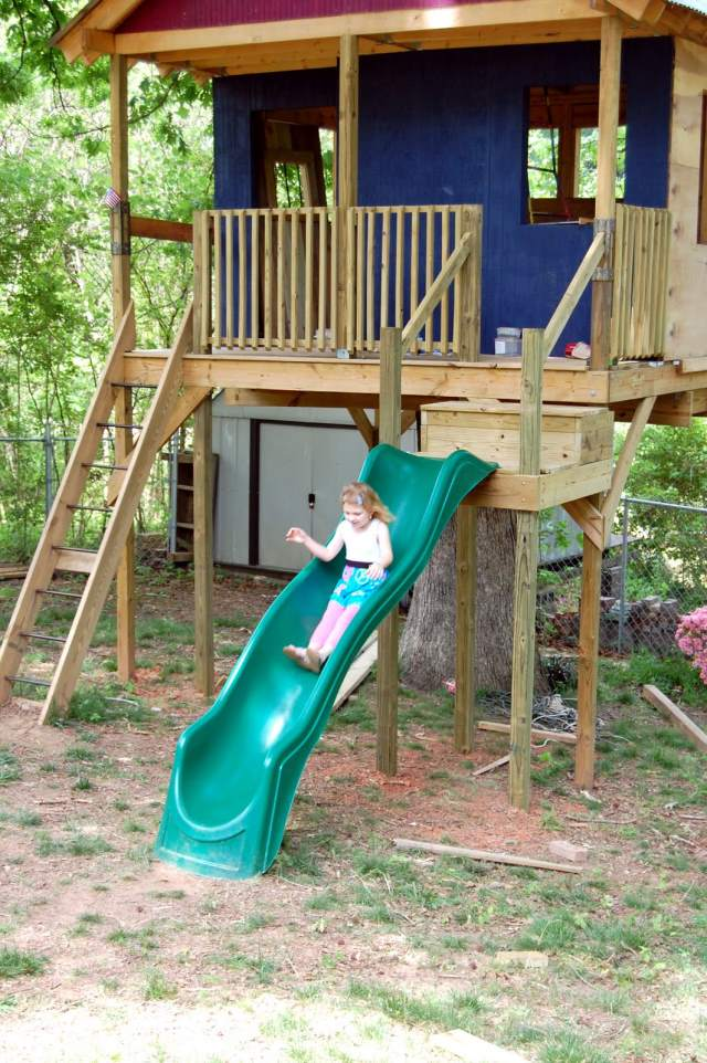 how to build a slide in your house