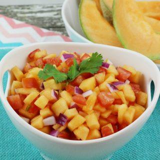 Cantaloupe Lime Salsa – Summer Dip Recipe