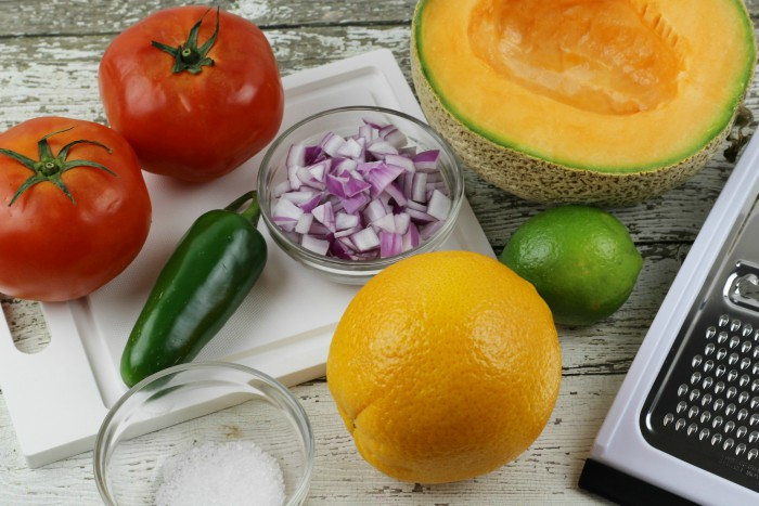 Cantaloupe Lime Salsa Ingredients