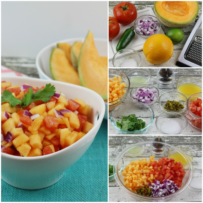 Cantaloupe Lime Salsa Steps and Ingredients