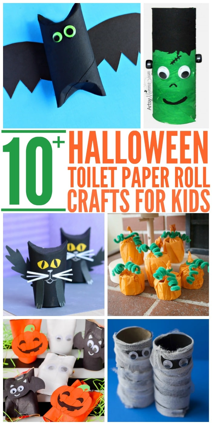 10  easy halloween toilet paper roll crafts