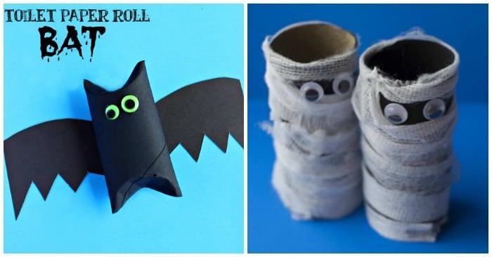 Image result for toilet paper roll crafts bat