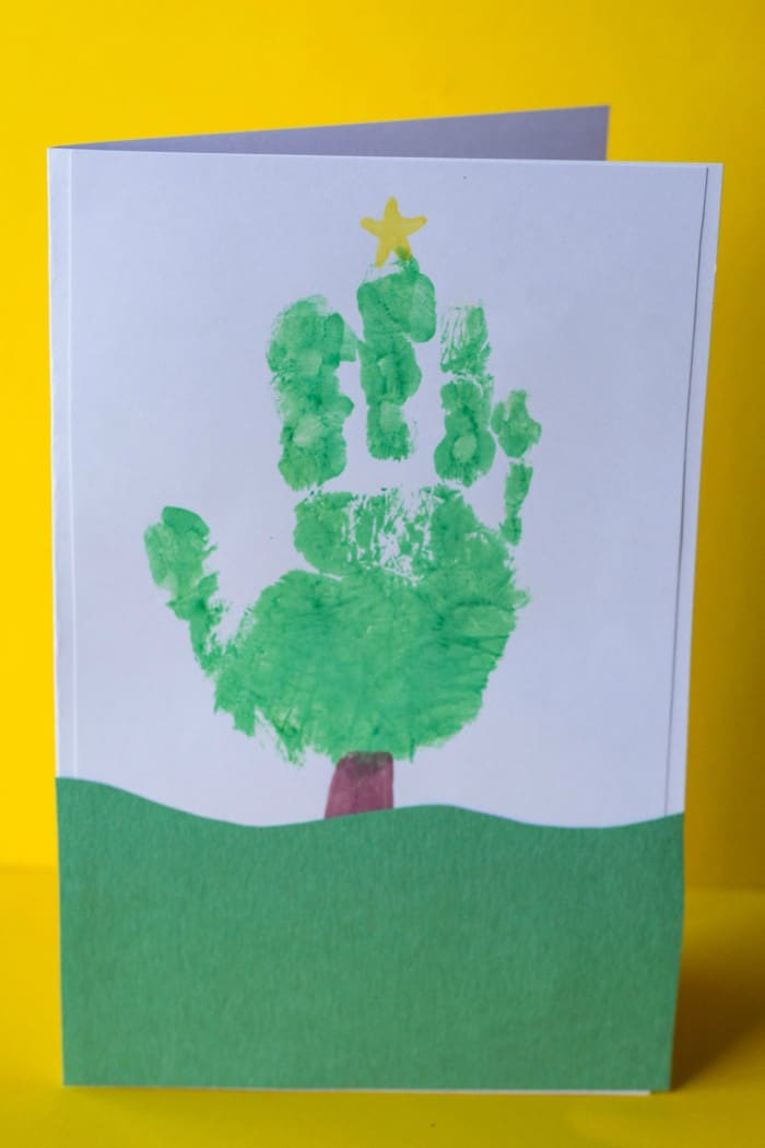 Handprint Christmas Tree Card