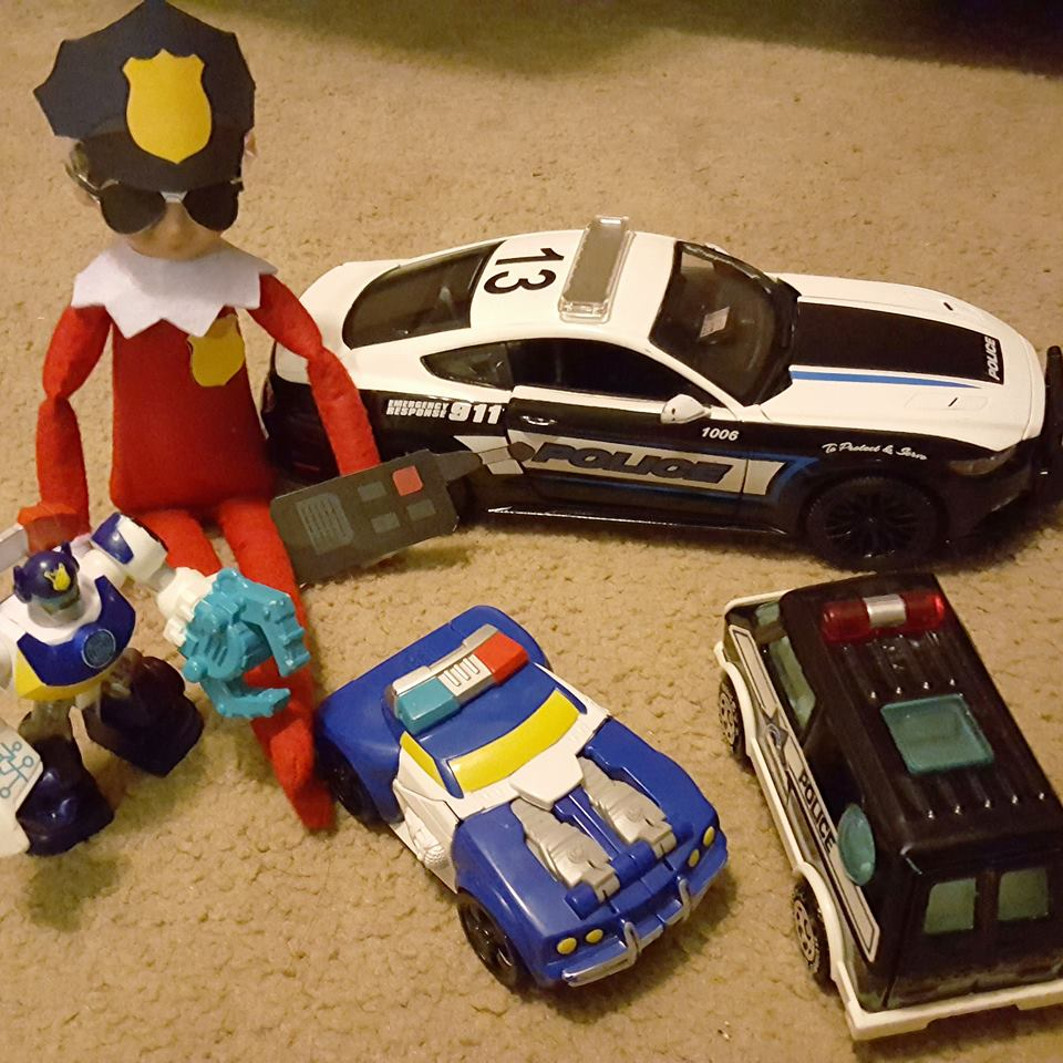 police elf on the shelf