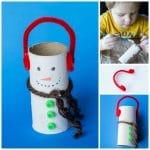 Snowman Toilet Paper Roll Craft