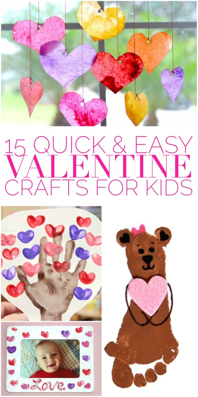 15 Quick & Easy Valentines Day Crafts for Kids