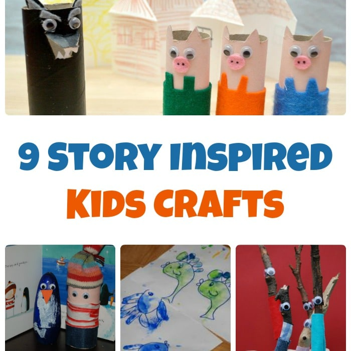 9 Story Inspired Kids Crafts for Creative Storytelling
