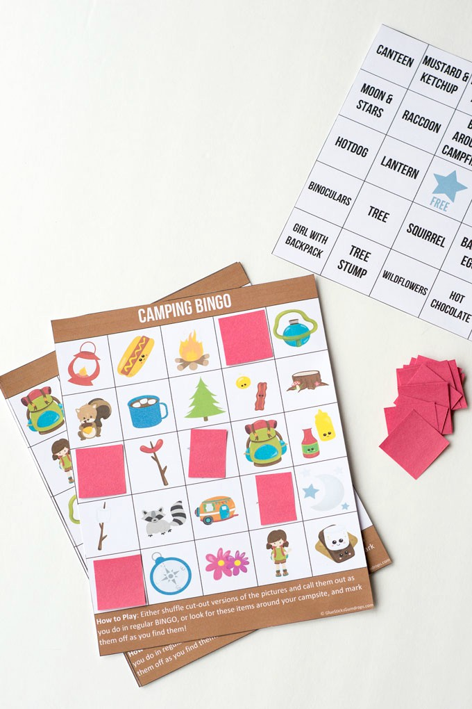 Click Here To Download The Free Printable Camping Bingo Game