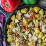 Chicken, Potatoes and Peppers Skillet Dinner