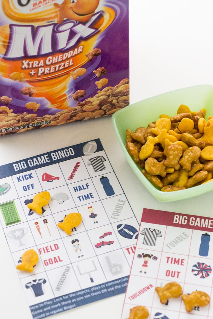 This football Bingo game is a great way to keep kids involved and entertained during the Big Game!