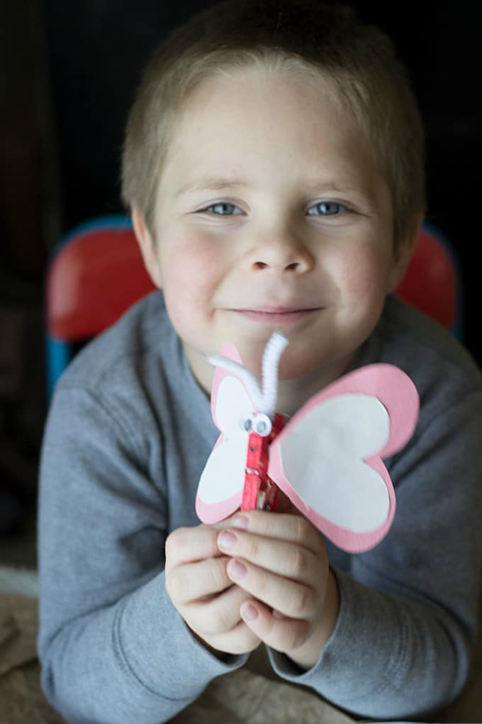 heart butterfly craft 3
