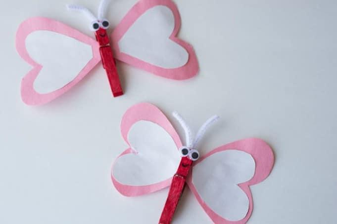 heart butterfly craft 4
