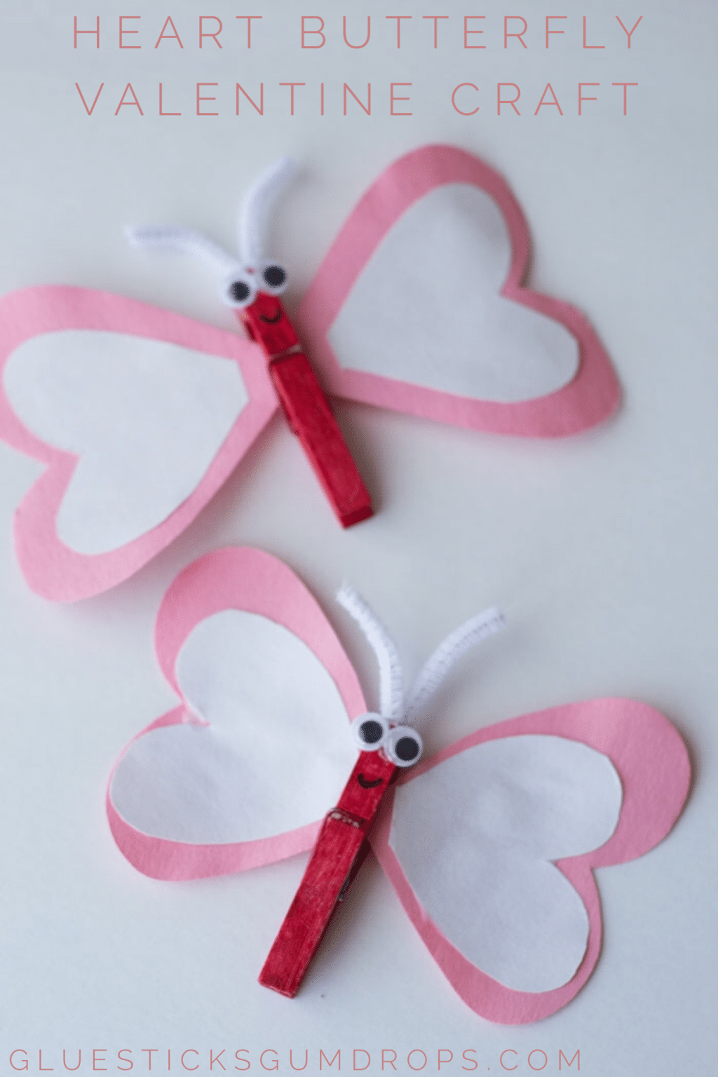 Heart Butterfly Craft for Valentine's Day
