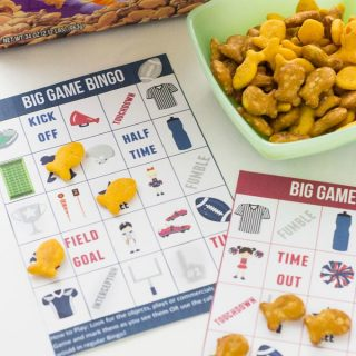 Football Bingo – Fun for Kids for the Big Game