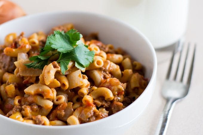 This quick goulash recipe should be a staple in your family dinner rotation!