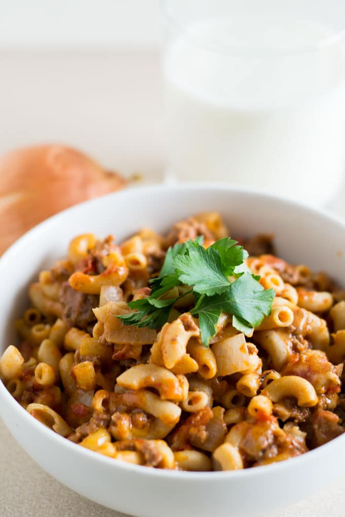 This delicious and simple goulash recipe is a quick 30 minute meal that your whole family will love.