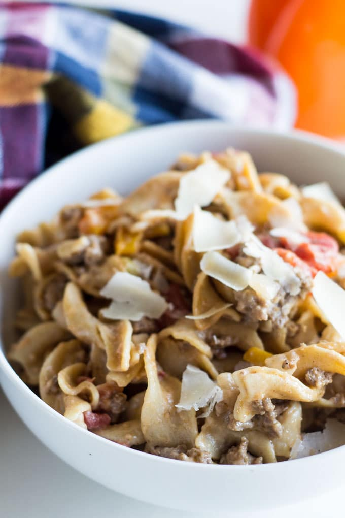 This easy homemade hamburger helper is a kid favorite! Moms will love it too, since it only takes 30 minutes to make.