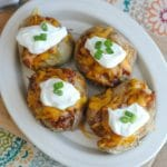 BBQ Pork Baked Potatoes