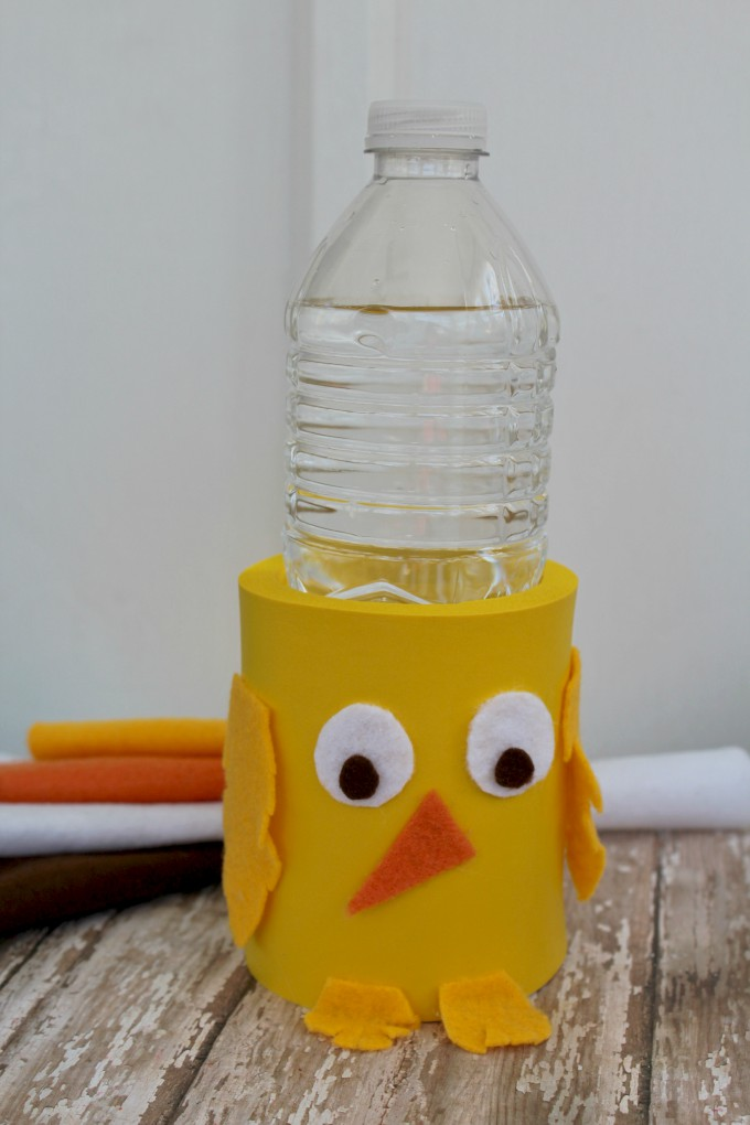 Easter Chick Craft Drink Koozie no text