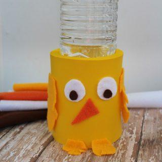 DIY Easter Chick Koozie Craft for Kids