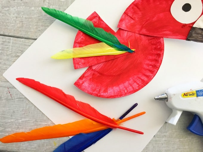 There you have your super cute paper plate parrot! & Parrot Paper Plate Craft for Kids - Rainforest Craft Idea