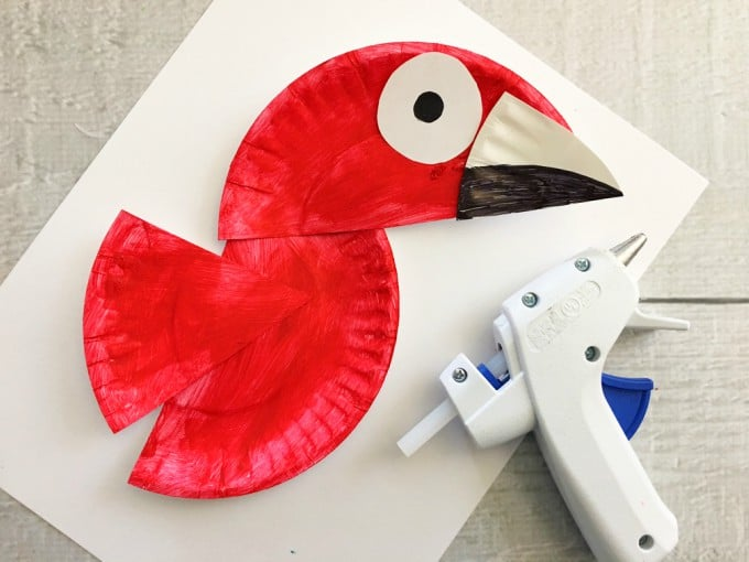 Parrot Paper Plate Craft for Kids - Rainforest Craft Idea