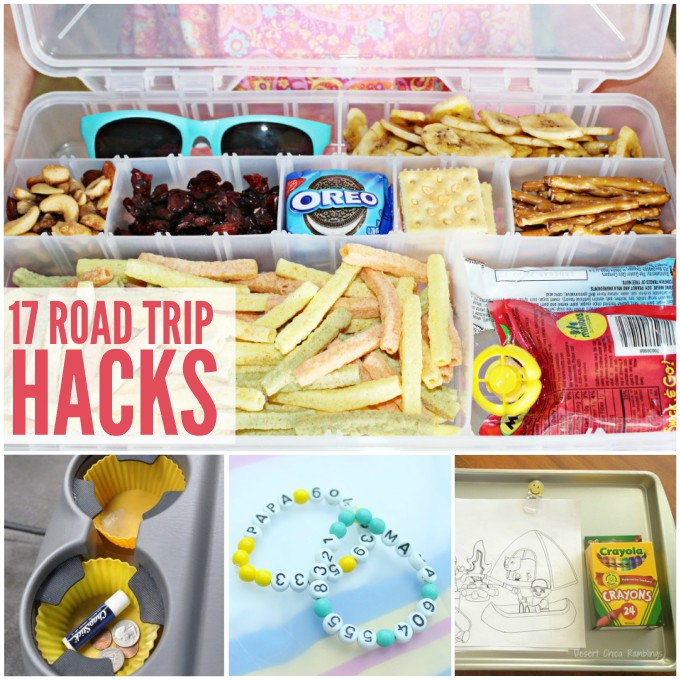 These road trip hacks will save you on your next long car trip with the kids.