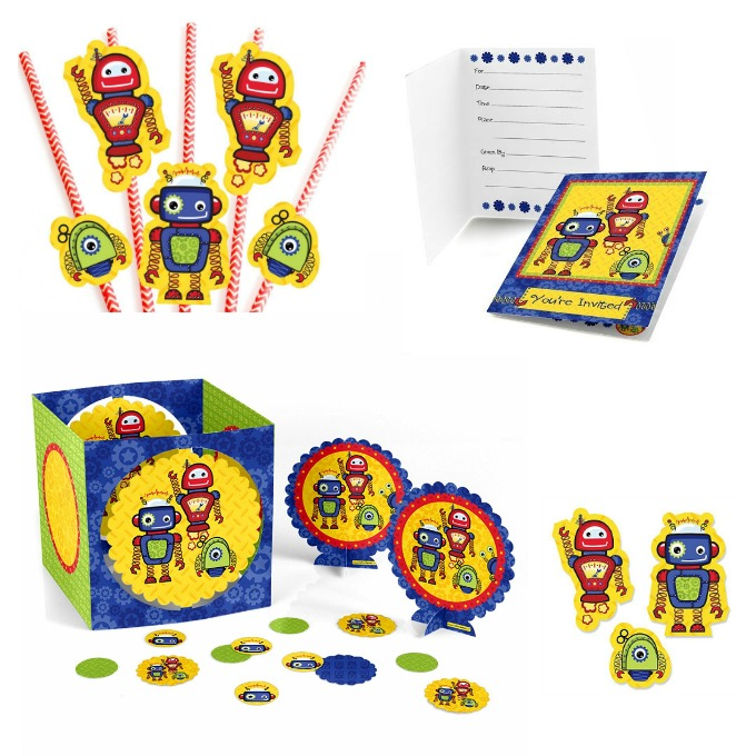 robot party supplies for preschoolers