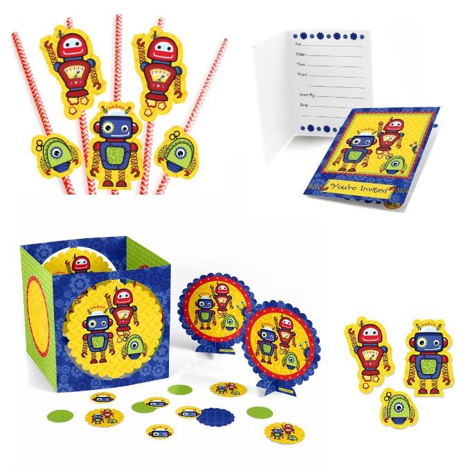 robot party supplies for preschoolers