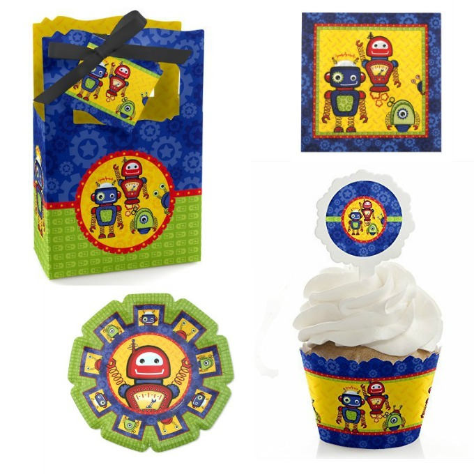 baby shower robot party supplies