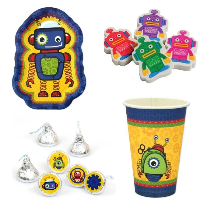 awesome robot party supplies for kids parties