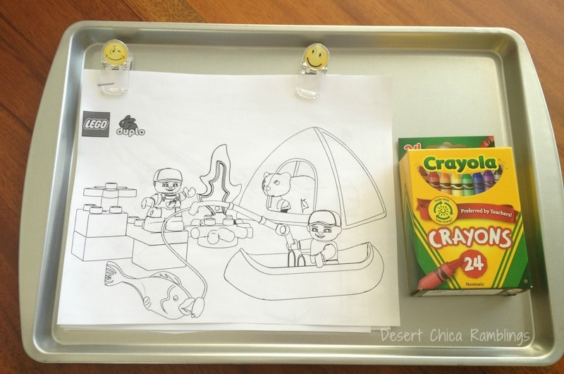 travel tray made with sheet pan