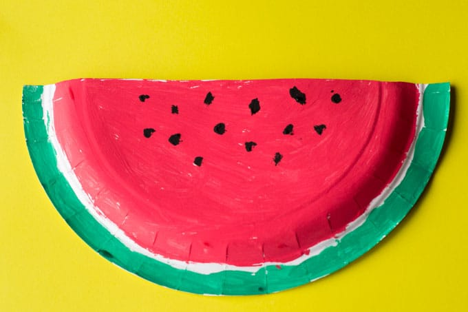 Materials Needed for the Watermelon Paper Plate Craft & Watermelon Paper Plate Craft - The Surprise Garden - Glue Sticks and ...