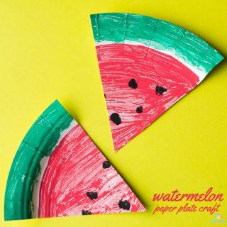 Watermelon Paper Plate Craft – The Surprise Garden