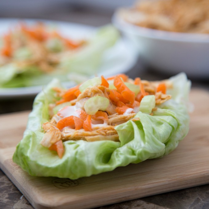 Instant Pot Buffalo Chicken Lettuce Wraps