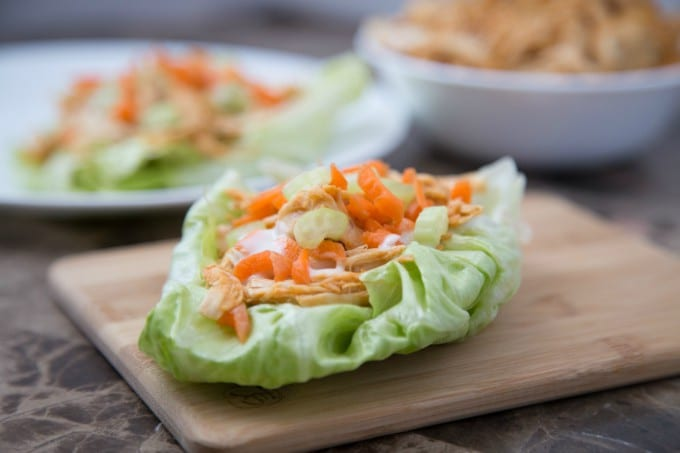 Buffalo Chicken Lettuce Wraps in the Instant Pot