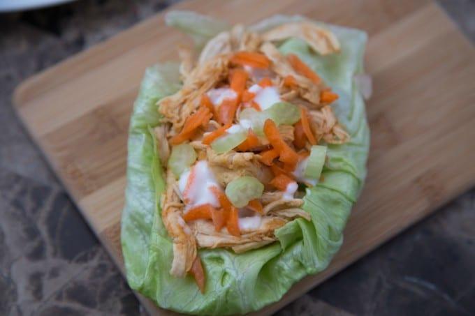 Pressure Cooker Buffalo Chicken Lettuce Wraps