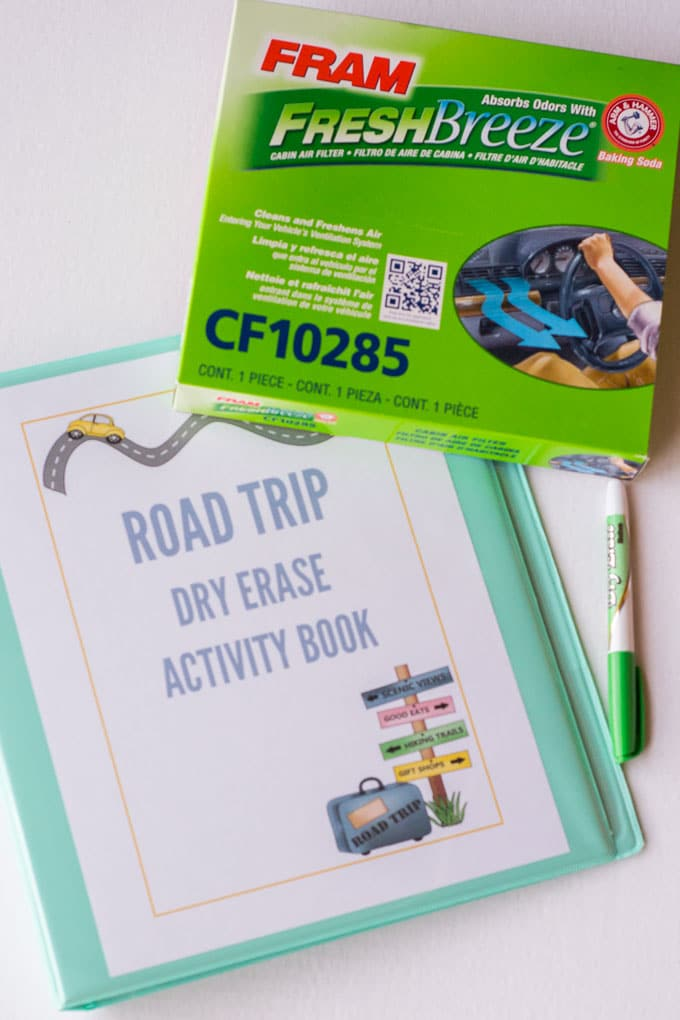This dry erase road trip activity book will keep your kids entertained during any road trip!
