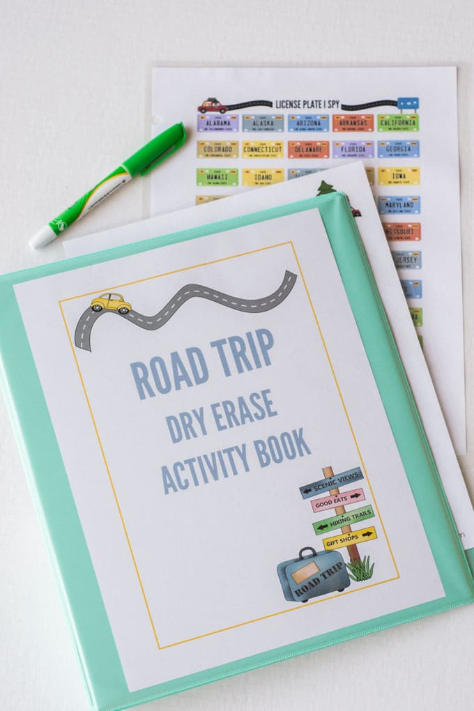 Road Trip Dry Erase Activity Book - a fun way to keep kids entertained during long car rides!