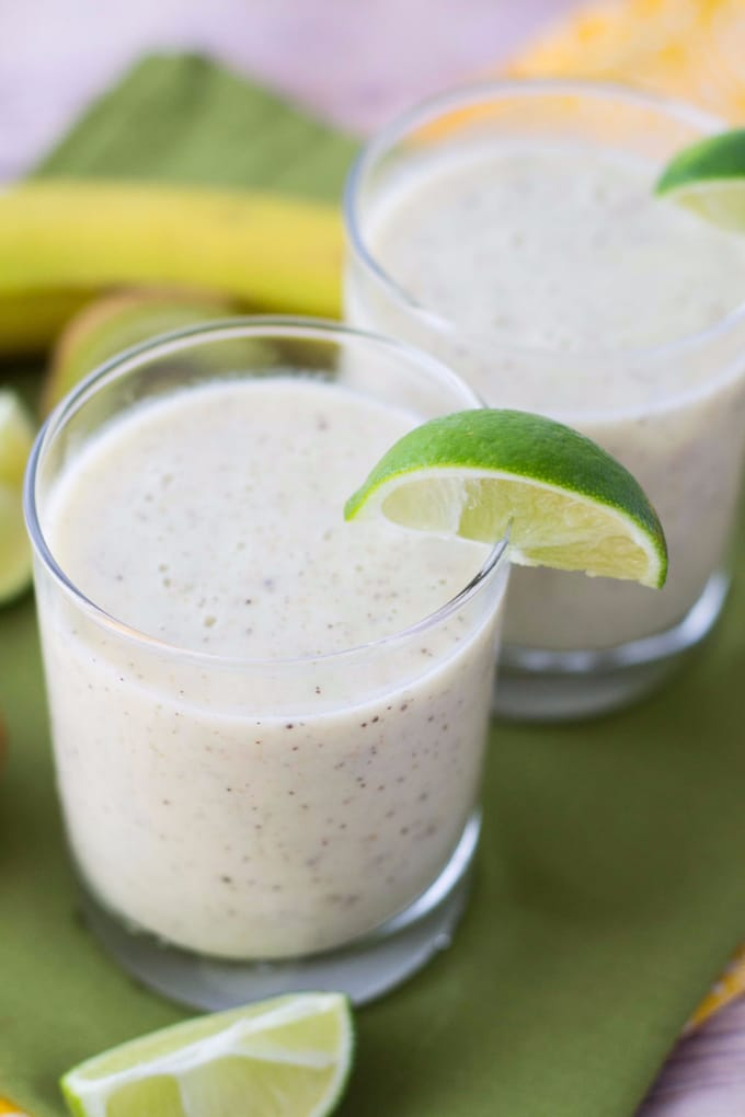 Healthy Kiwi Lime Banana Smoothie Recipe