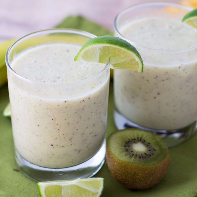 Kiwi Lime Banana Smoothie - Kid Friendly and Delicious!