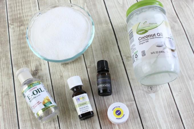 Lemon Mint Sugar Scrub Ingredients