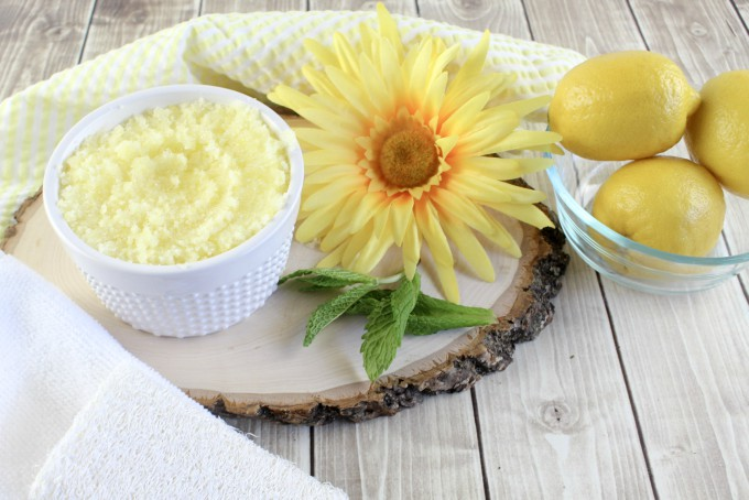 Lemon Mint Sugar Scrub for super soft skin