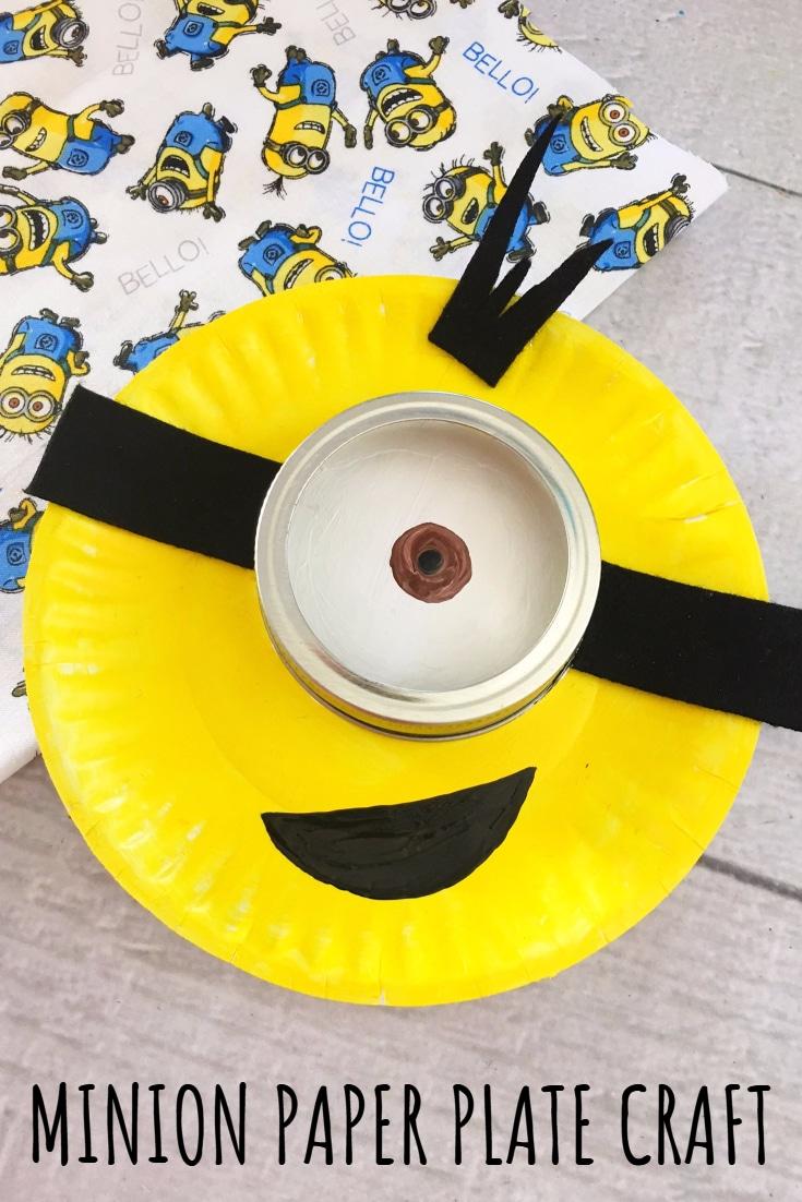 Cute Minion Paper Plate Craft for Kids