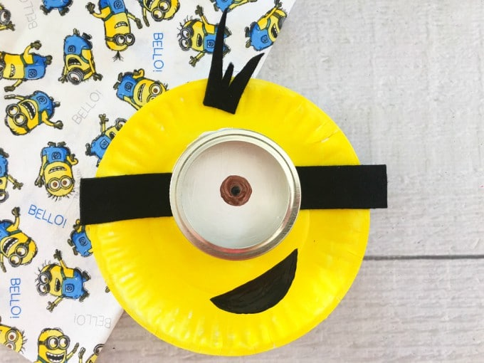 Completed Minion Paper Plate Craft