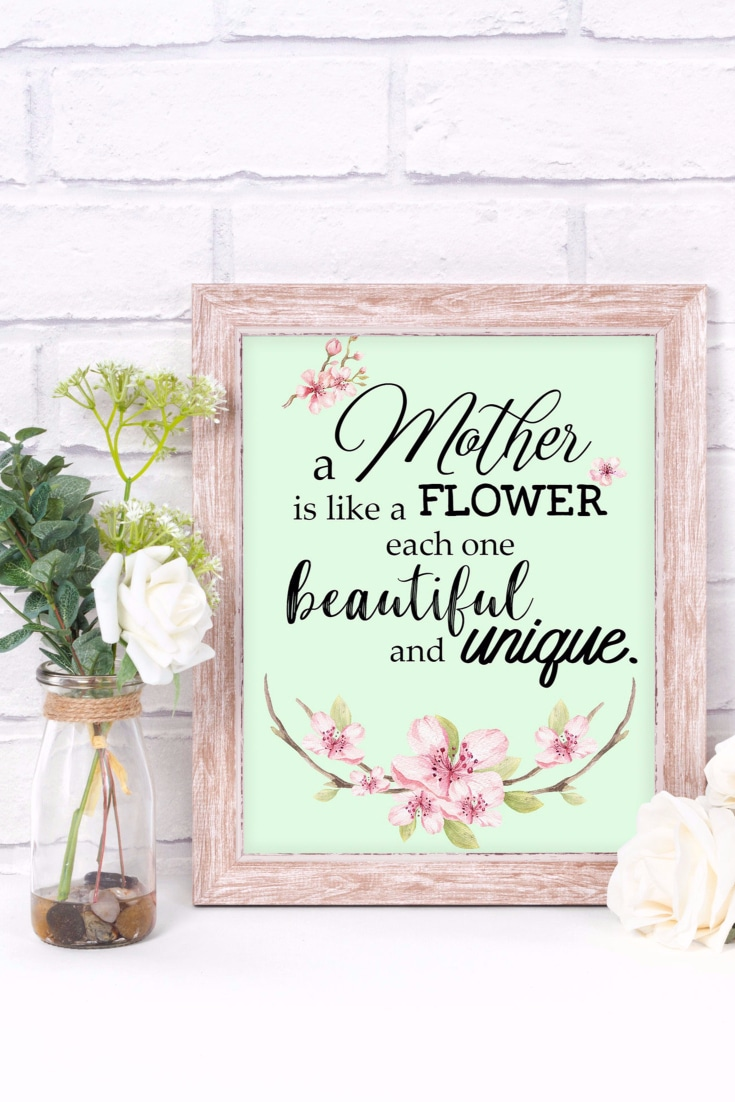 Mother's Day Quote Printable Artwork