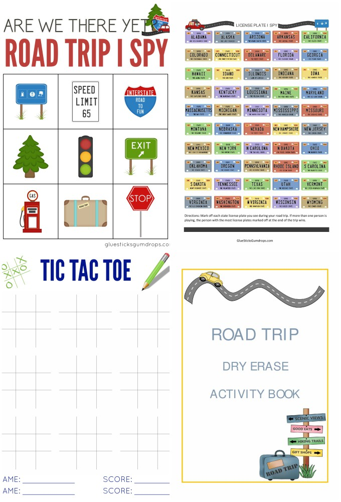 Road Trip Activity Book Printables